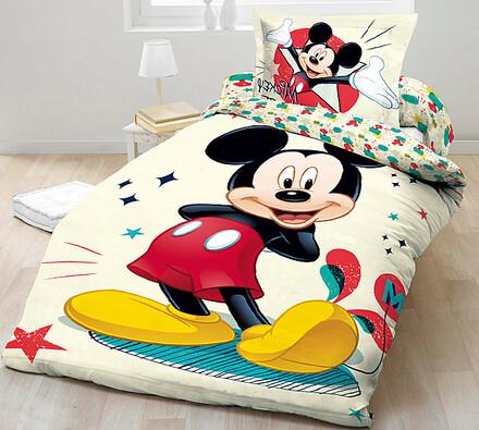 Dětské bavlněné povlečení Mickey, 140 x 200 cm, 70 x 90 cm