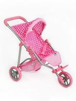 PlayTo Sportovní kočárek pro panenky Olivie, světle růžová