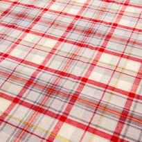 Ubrus Káro červeno-béžová, 90 x 90 cm