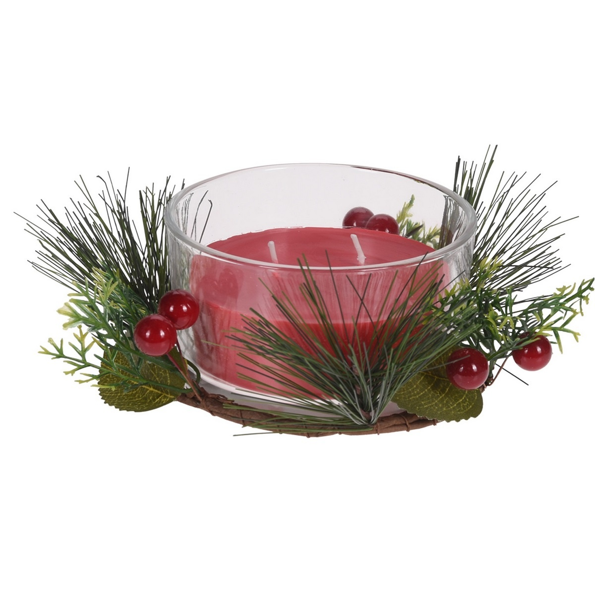 Svíčka ve skle Merry Candle 185 g, červená