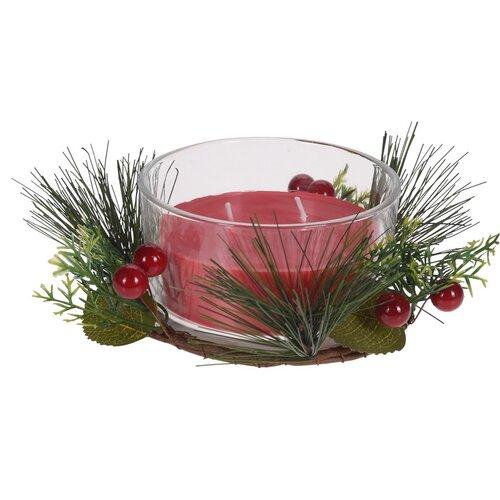 Lumânare în sticlă Merry Candle 185 g, roșu