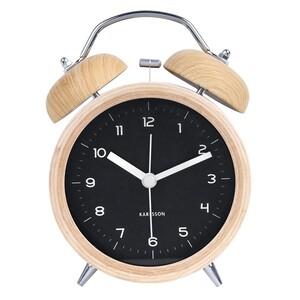 Karlsson 5660BK Designový dřevěný budík