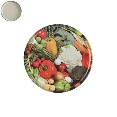Víčko na zavařovací sklenice Zelenina, 10 ks