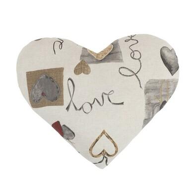 Polštář srdce IVO Zavěšená srdce, 42 x 48 cm