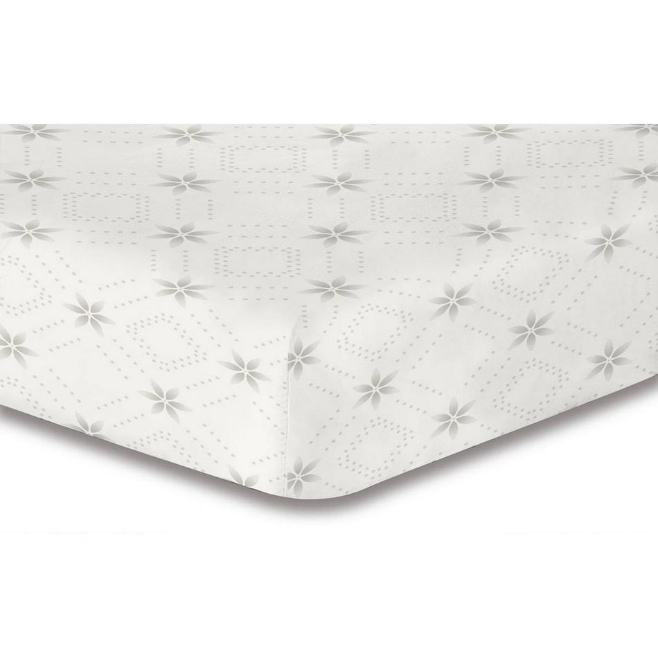 DecoKing Prestieradlo Snowynight sivá S2 mikrovlákno, 180 x 200 cm, 180 x 200 cm