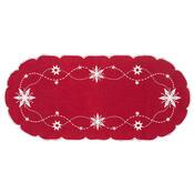 Vánoční ubrus Vánoční hvězda červená, 40 x 90 cm