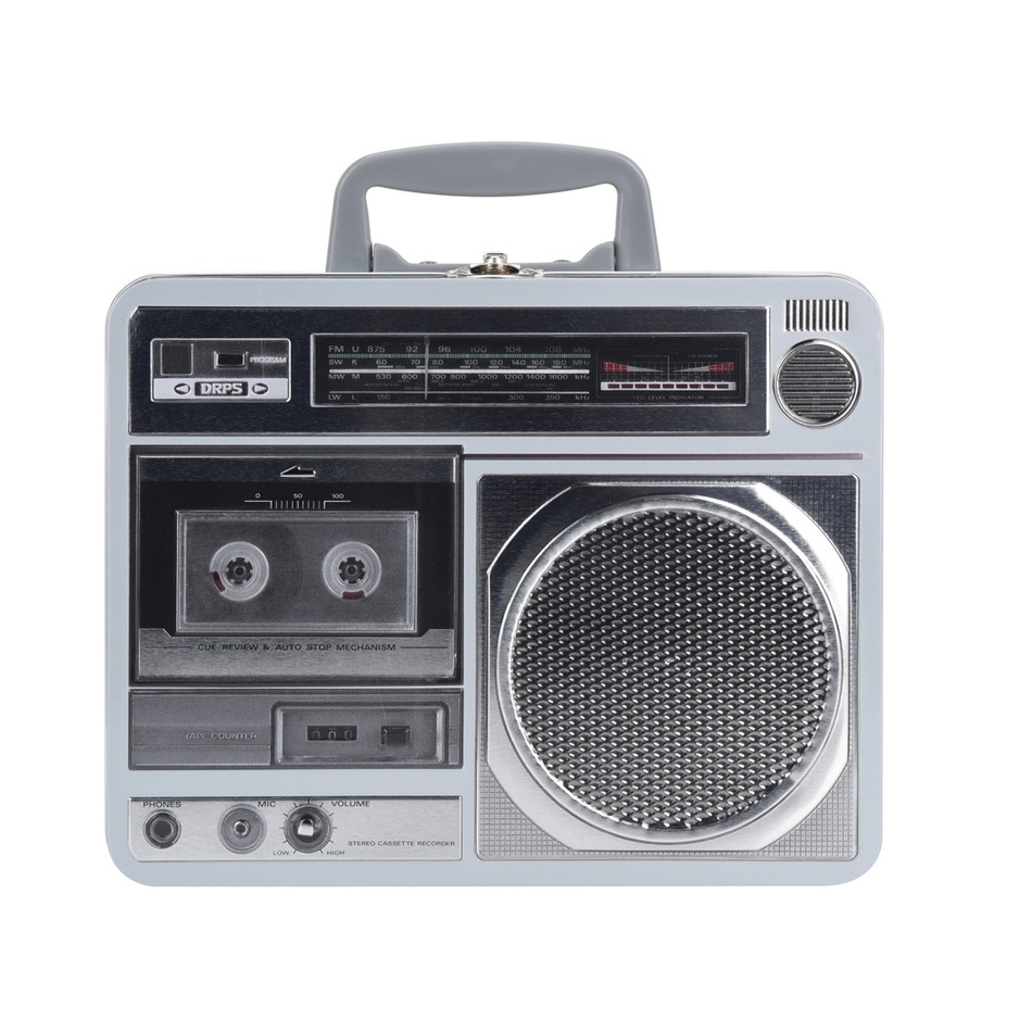 Plechová doźa Rádio, stříbrná