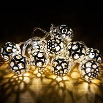 Lampki Bobbio srebrny, 10 LED