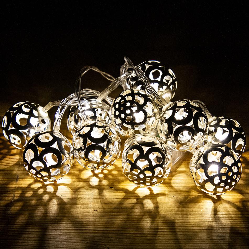 Světelný řetěz Bobbio stříbrná, 10 LED