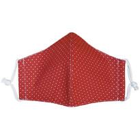 Ústní bavlněná rouška Puntík mini červená - děti 3 - 6 let