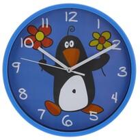 Ceas de perete Pinguino, albastru, 23 cm