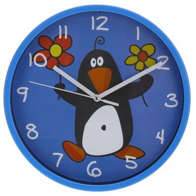 Zegar ścienny Pinguino niebieski, 23 cm