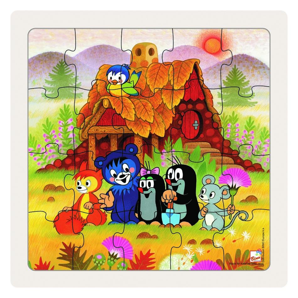 Fotografie Bino Puzzle Paní Krtečková a přátelé, 20 dílků