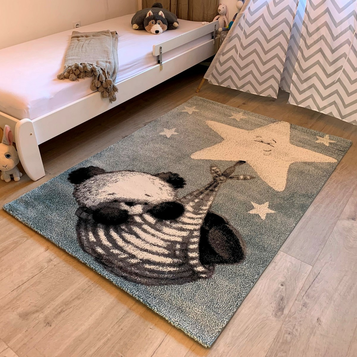 Vopi Kusový dětský koberec Kiddo 1083 blue, 80 x 150 cm