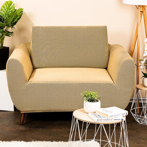 4Home Multielastyczny pokrowiec na fotel Comfort beżowy, 70 - 110 cm