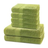 DecoKing Komplet ręczników Marina zielony, 4 szt. 50 x 100 cm, 2 szt. 70 x 140 cm