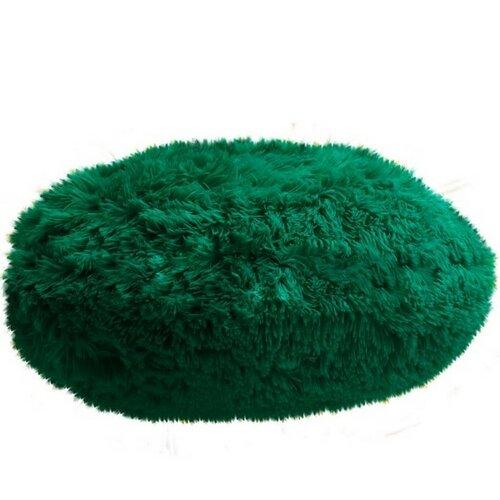 Domarex Polštář kulatý Queen tmavě zelená, 50 cm
