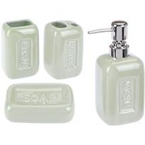Romance fürdőszobai készlet, zöld