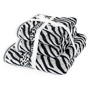 Sada uterákov a osušky Zebra biela