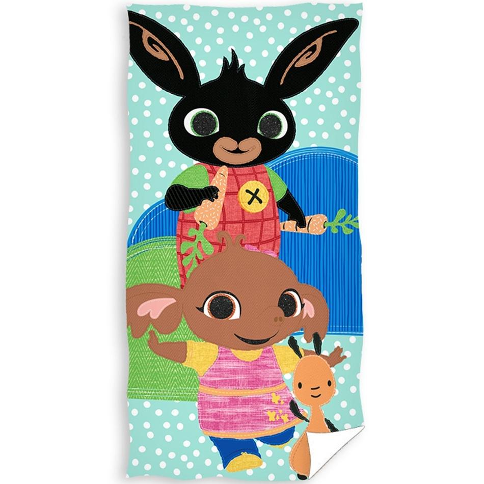 Bing, sula és Flop gyermek törölköző, 30 x 50 cm