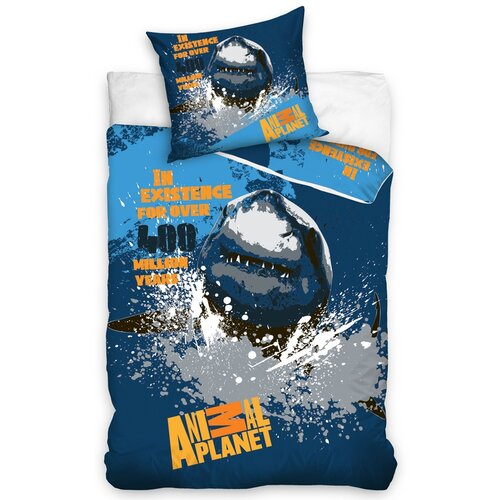 Bavlněné povlečení Animal Planet Žralok, 140 x 200 cm, 70 x 80 cm