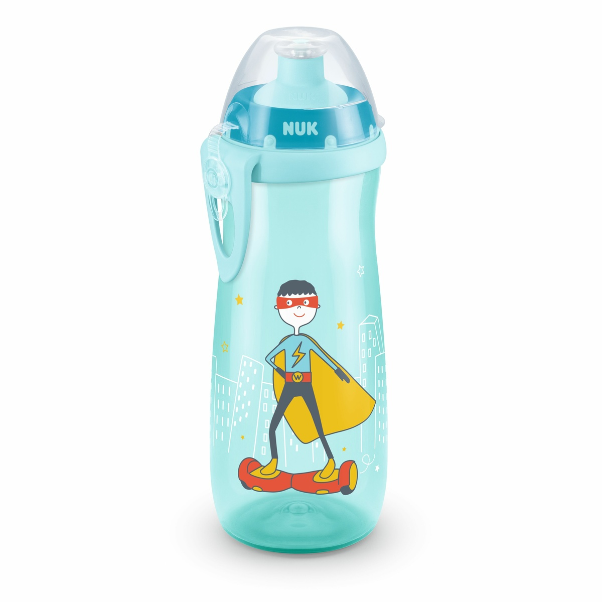 NUK First Choice Láhev Sports Cup 450 ml, modrá