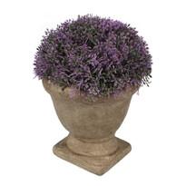 Művirág beton virágtartóban, lila, 15 x 12 cm