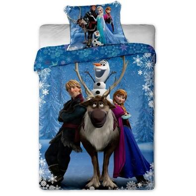 Dětské bavlněné povlečení Ledové Království (Frozen), 140 x 200 cm, 70 x 90 cm