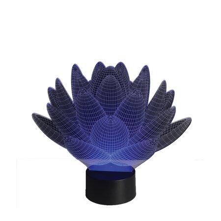 Sharks 3D LED lámpa Lótuszvirág