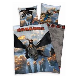 Dětské povlečení Dragons - Jak vycvičit draka, 140 x 200 cm, 70 x 90 cm