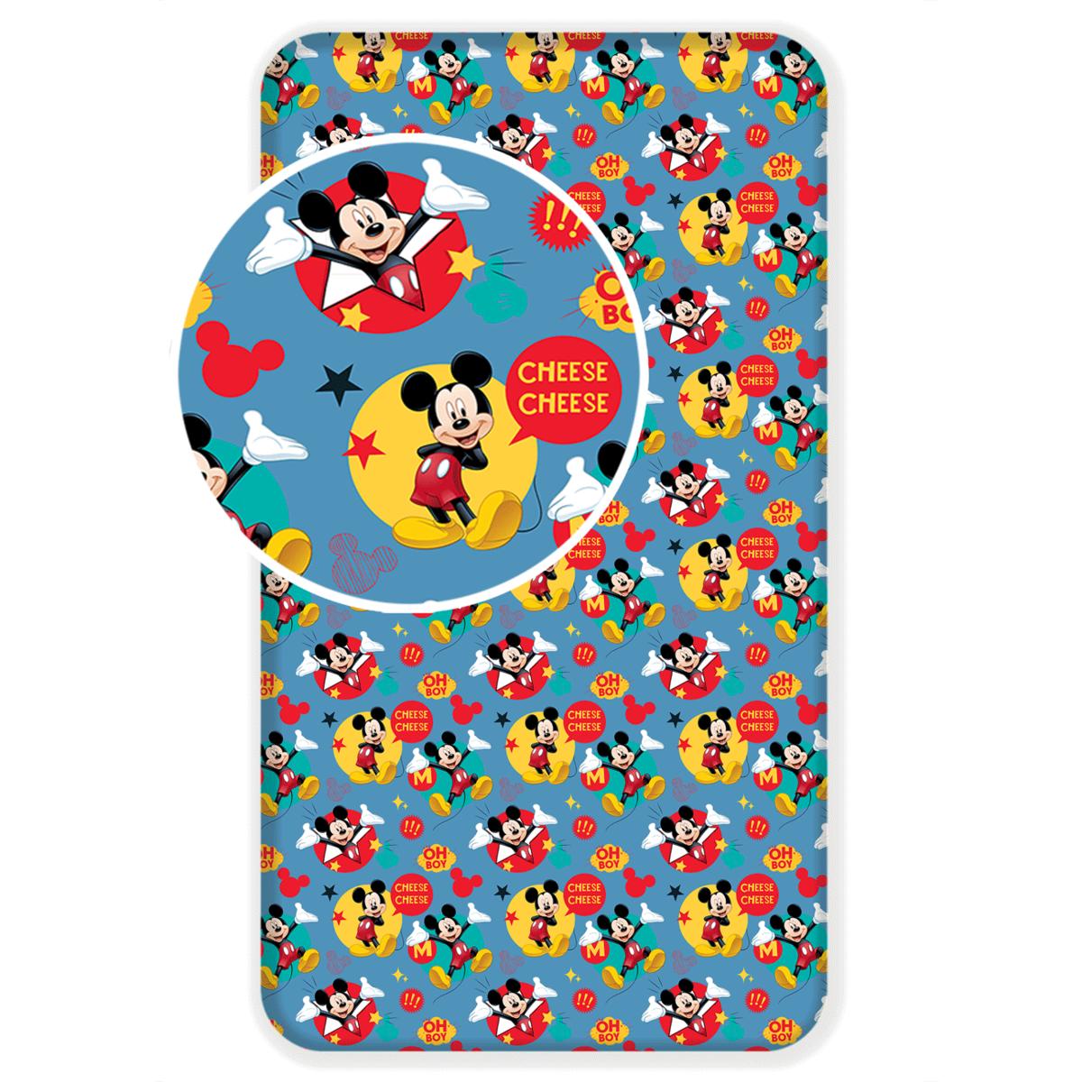 Jerry Fabrics Bavlnené prestieradlo Mickey 2017 90x200 cm