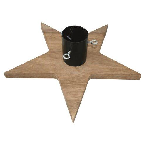 Dřevěný stojan na stromek Stea tmavě hnědá, 56 x 56 cm