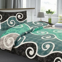 Lenjerie de pat din crep Bonita Sicilia, 140 x 200 cm, 70 x 90 cm
