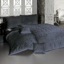 Matějovský márkájú damaszt ágynemű, Lolita, sötétszürke, 140 x 200 cm, 70 x 90 cm