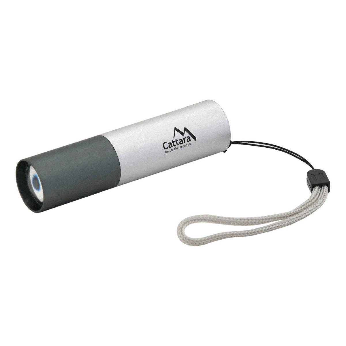 Cattara Vreckové nabíjacie svietidlo Silver, LED 120 lm ZOOM