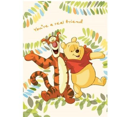 Dětská deka Medvídek Pú & Tygr, 80 x 110 cm