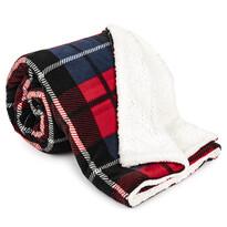 Pătură 4Home Carouri, imitație blăniță, roșu, 150 x 200 cm