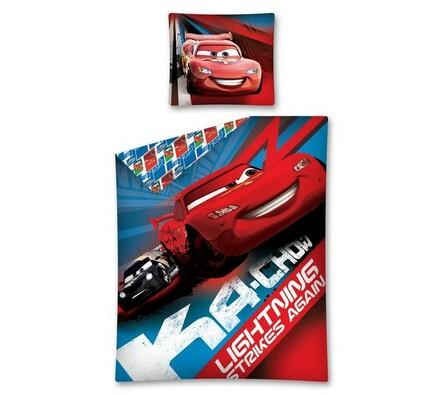 Dětské bavlněné povlečení Cars Strikes, 140 x 200 cm, 70 x 80 cm