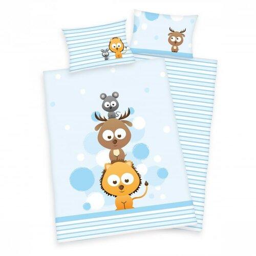 Herding Detské bavlnené obliečky do postieľky Jana Sweet Animals, 100 x 135 cm, 40 x 60 cm