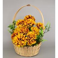Dušičkový košík zdobený 20 x 30 cm, sv.žlutá
