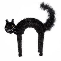Halloweenská mačka Black, 42 x 41 cm