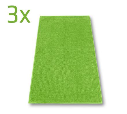 Ručník s.Oliver zelený, 50 x 100 cm, sada 3 ks, zelená, 50 x 100 cm