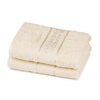 4Home Bamboo Premium törölköző, krémszínű, 30 x 50 cm, 2 db-os szett