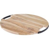 Koopman Dřevěné krájecí prkénko s úchyty, 39 x 1,5 cm