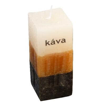 Tříbarevná svíčka s vůní kávy kvádr