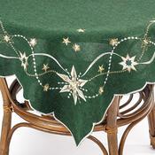 Vánoční ubrus Vánoční hvězda zelená, 85 x 85 cm