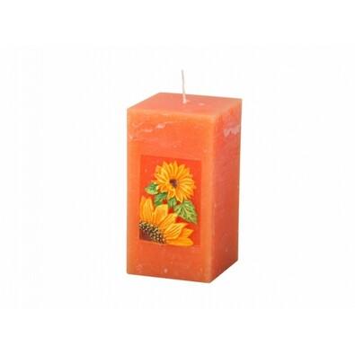 Vyřezávaná svíčka Slunečnice, hranol