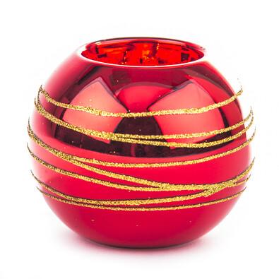 Svícen koule červená