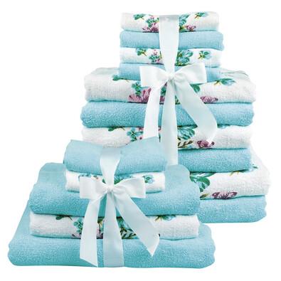 Sada 15ks ručníků, mentolová