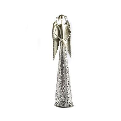 Anioł bożonarodzeniowy z sercem, srebrny